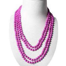 Purple Howlite (Rnd 7-9 mm) Endless Necklace (Size 100) 860.00 Ct.