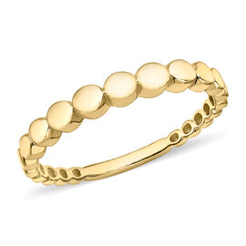 9K Yellow Gold Stepped Circle Ring