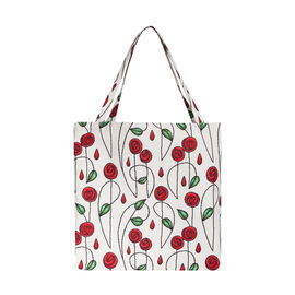 SIGNARE - Tapastry Collection -Mackintosh Teardrop Rose Free Flat ECO Shopping Bag (31 x 30 x 13.5 c