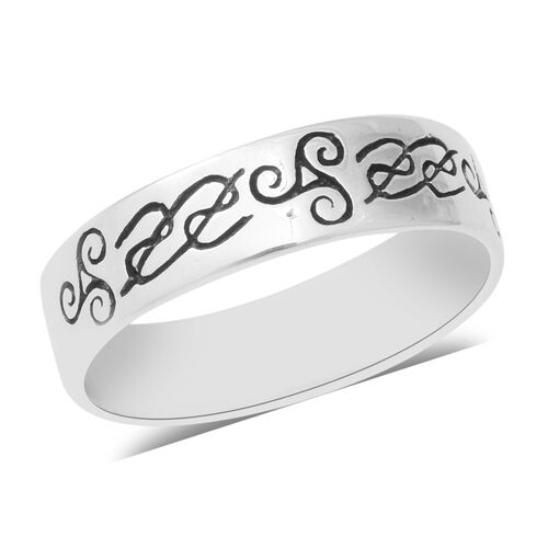 Band Ring in Sterling Silver 2.26 Grams