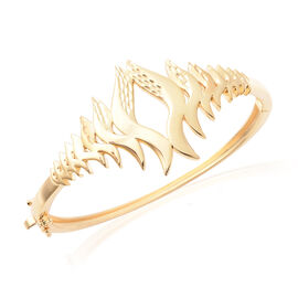 Lucy Q Flame Collection - Yellow Gold Overlay Sterling Silver Bangle (Size 7.5), Silver Wt. 35.58 Gm