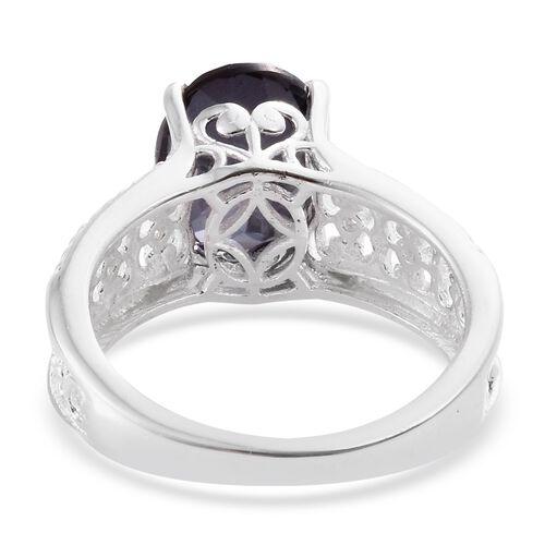 Colour Change Alexandrite Quartz (Ovl 3.65 Ct), Bekily Colour Change Garnet Ring in Sterling Silver 3.750 Ct.