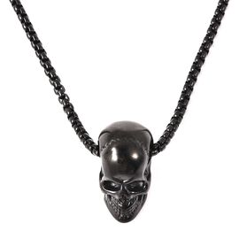 Skull Pendant with Chain in Stainless Steel 21 Inch