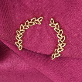 Vicenza Collection 14K Gold Overlay Sterling Silver Leaves Climber Earrings