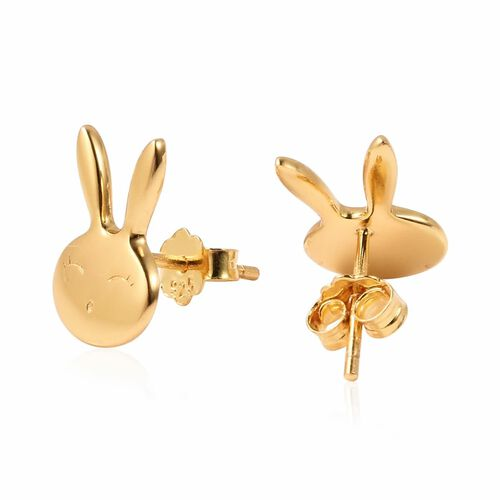 Bunny Earrings for Girls in Gold Plated Silver