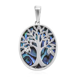 Royal Bali Collection Abalone Shell Tree of Life Pendant in Sterling Silver