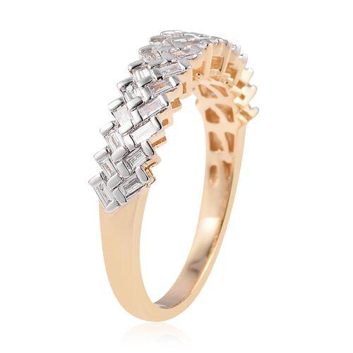 ILIANA 18K Y Gold IGI Certified Diamond (Bgt) (SI/G-H) Ring 0.500 Ct.
