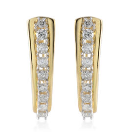 NY Close Out Deal- 9K Yellow Gold Diamond (Rnd) (I3/G-H) Earrings (with Clasp) 1.00 Ct, Gold wt 4.70