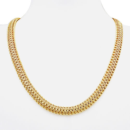 Italian Made - 9K Yellow Gold Fancy Necklace (Size 22), Gold Wt. 19.86 Gms