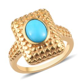 Arizona Sleeping Beauty Turquoise Ring in 14K Gold Overlay Sterling Silver 1.00 Ct.