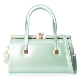 HONG KONG CLOSE OUT DEAL Mint Green Colour Tote Bag with Detachable Shoulder Strap (Size: 28x14x15 C