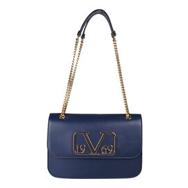 19V69 ITALIA by Alessandro Versace Shoulder Bag with Magnetic Closure (Size 24x15.5x6Cm) - Navy