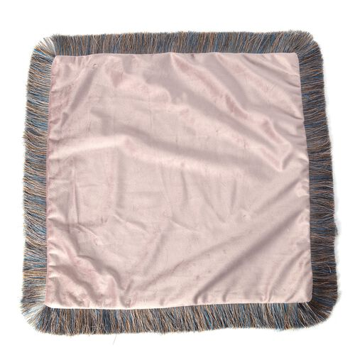 Luxury Edition - 2 Piece Set Extremely Soft Decorative Cushion Covers with Trimming in Dusky Rose Colour (Size 45x45 Cm)