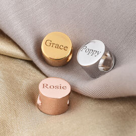 Personalise Engraved Round Charm