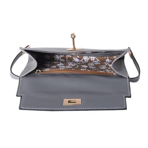 Super Soft  Genuine Leather RFID Clutch Wallet (Size 19x2x10cm) - Grey