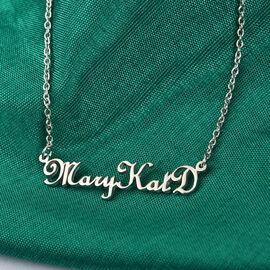 Personalised Name Necklace in Silver, Font - French Script MT