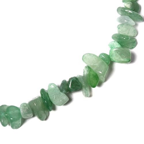 Green Aventurine, Multi Colour Beads and White Austrian Crystal Beads Necklace (Size 18)