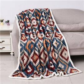 Super Auction - Santa Fe Printed Warm & Soft Double Layer Sherpa Blanket (150x200 cm)