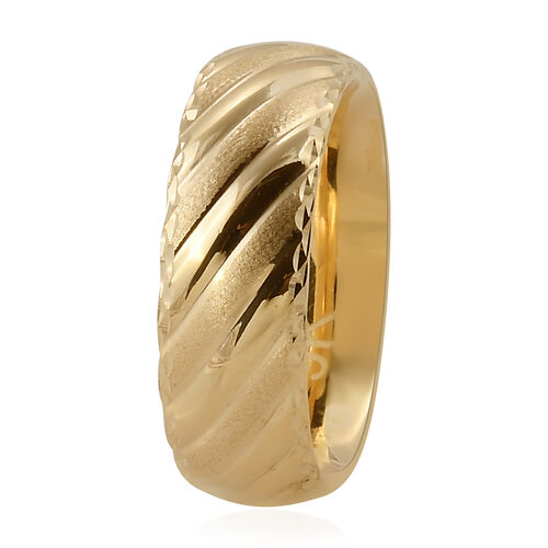 Premium Collection- Royal Bali Collection Handmade 9K Yellow Gold Textured & High Polish Band Ring.Gold Wt 2.50 Gms