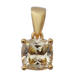 ELANZA Swiss Star Simulated Canary Diamond Pendant in Yellow Gold Overlay Sterling Silver 2.89 Ct.