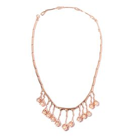LucyQ Freshwater Pink Pearl  (Pearl) Drip Necklace (Size 16 and 4 inch Extender) in Rose Gold Overla