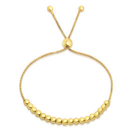 JCK Vegas Collection - Close Out Deal - Yellow Gold Overlay Sterling Silver Bolo Bead Bracelet (Size