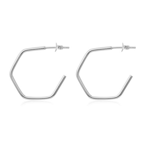 Sterling Silver Hoop Earrings (With Push Back)