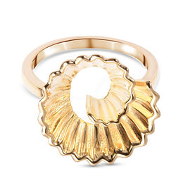 RACHEL GALLEY Yellow Gold Overlay Sterling Silver Pencil Shavings Inspired Ring