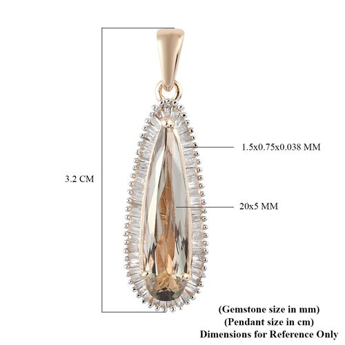 9K Yellow Gold AA Diaspore and White Diamond Pendant (2.88ct)