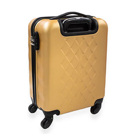Lightweight Durable Cabin Luggage with 360 Degree Swivel Wheels and Combination Lock (53.5cm x 36cm