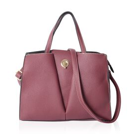 Close Out Deal Burgundy Large Tote Bag with Removable Shoulder Strap (Size 32x27x12 Cm)
