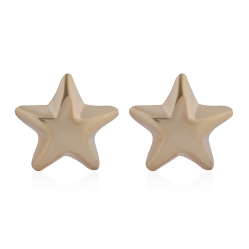 9K Yellow Gold Star Stud Earrings (with Push Back)