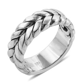 Royal Bali Collection Stacker Band Ring in Sterling Silver 7.60 Grams