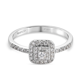 RHAPSODY 950 Platinum IGI Certified Diamond (VS/E-F) Diamond Ring 0.48 Ct.
