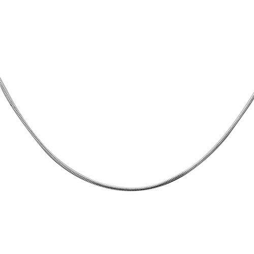Italian Made-  Sterling Silver Adjustable Snake Chain (Size 24)