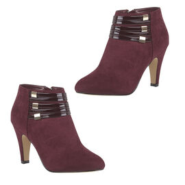 Lotus Nell Closed Toe Shoe Boot in Burgundy