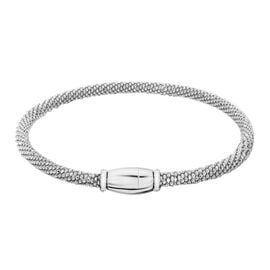 Rhodium Plated Sterling Silver Bracelet (Size 7), Silver wt 7.00 Gms