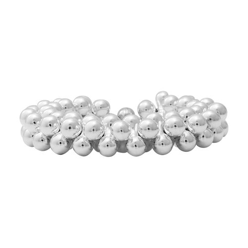 Beaded Style Bracelet in Rhodium Plated Silver 71.79 Grams 8.5 Inch