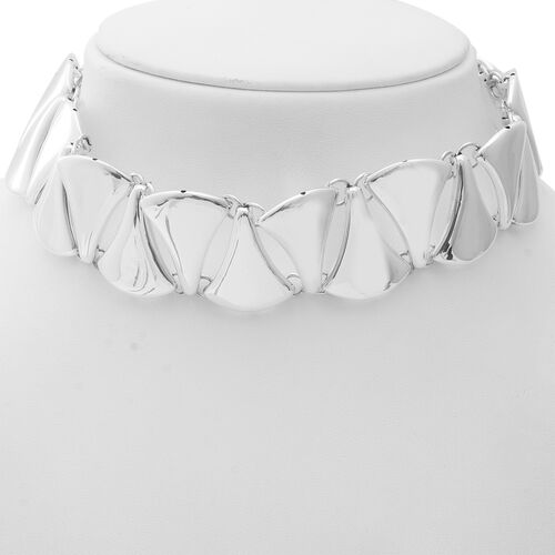 Limited Edition- Designer Inspired High Polish Sterling Silver Necklace (Size 15.5), Silver wt 60.00 Gms