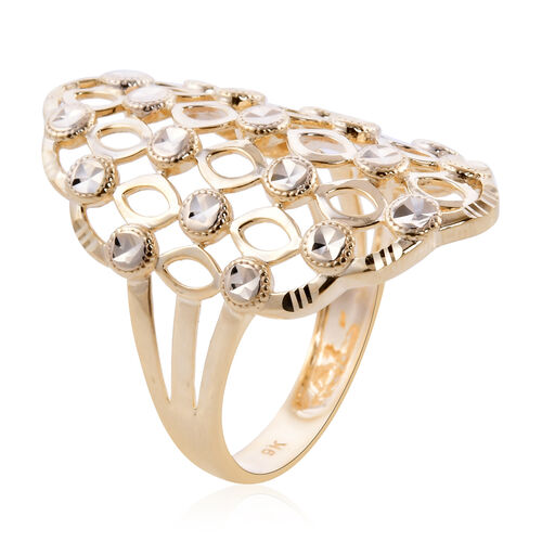 Royal Bali Collection - 9K Yellow Gold Ring, Gold wt 3.40 Gms