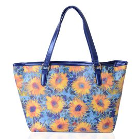 Sunflower Water Resistant Pattern Large Tote Bag (Size 45x31x28x11 Cm)