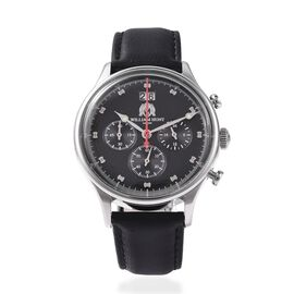 Super Auction - WILLIAM HUNT Japanese Movement Water Resistance Watch in Stainless Steel with Black