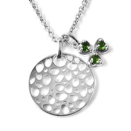 Russian Diopside (0.24 Ct) Sterling Silver Pendant With Chain  0.240  Ct.