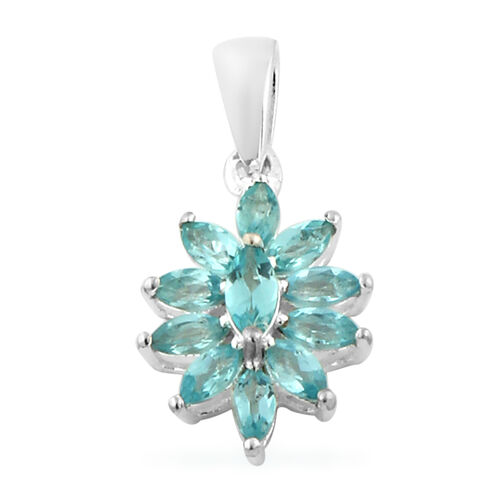 One Time Deal- Paraibe Apatite Pendant Sterling Silver