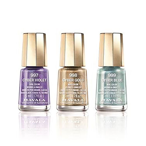 (Option 2) Mavala: Metallic Trio 2: Cyber Violet (997), Cyber Gold (998) & Cyber Blue (999)