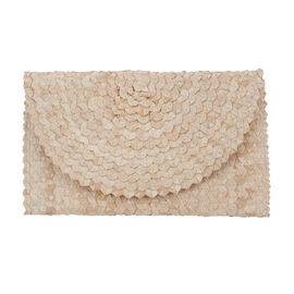 Bali Collection Plam Leaf Sisik Pattern Woven Clutch Handbags (Size:56x35x50Cm) - Orange