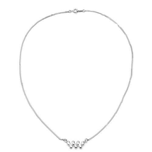 Designer Inspired High Finish Zig Zag Bead Necklace in Sterling Silver 5.60 Grams