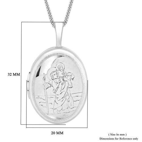 Sterling Silver St Christopher Locket Pendant