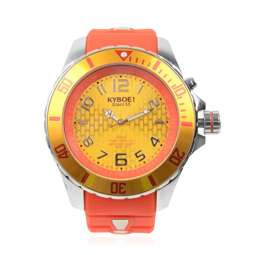 KYBOE Japanese Movement 100M Water Resistant Silver Flare LED Watch  in Stainless Steel with Rotatin