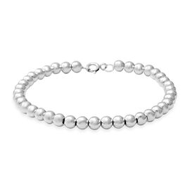 One Time Close Out Deal- Sterling Silver Bead Bracelet (Size 7.5), Silver wt 11.20 Gms
